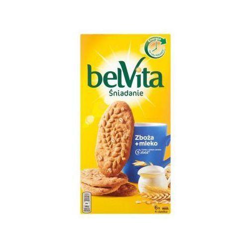 Ciastka z pełnego ziarna belVita Śniadanie Zboża + mleko 300 g (6 x 4 sztuki) (7622210025791)