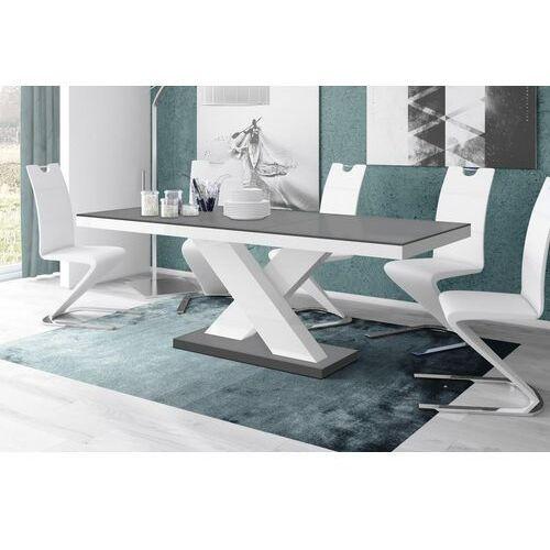 Hubertus Stół rozkładany xenon 160-208 szaro-biały mat