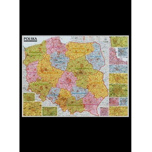 Polska 1:685 000. Mapa ścienna. Kody pocztowe. Wyd. 2014 - OKAZJE