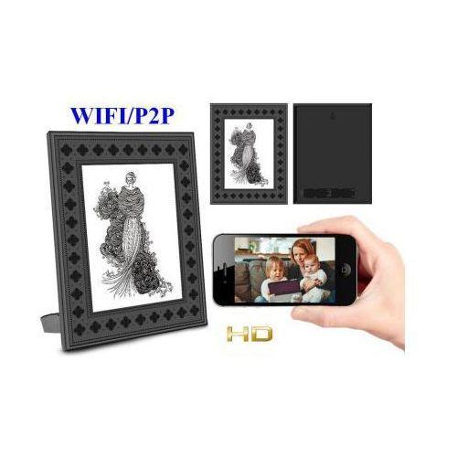 Spy Szpiegowska kamera hd wifi/p2p (zasięg cały świat!) dzienno-nocna ukryta w obrazku/ramce + zapis +..