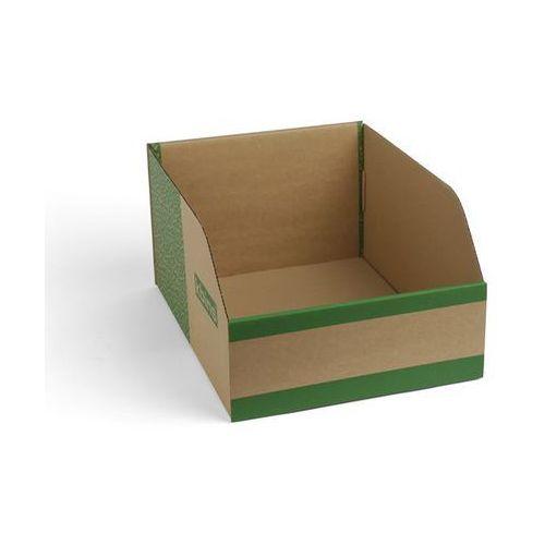 K bins limited Skrzynki regałowe z kartonu, składane, opak. 25 szt., dł. x szer. x wys. 400x300