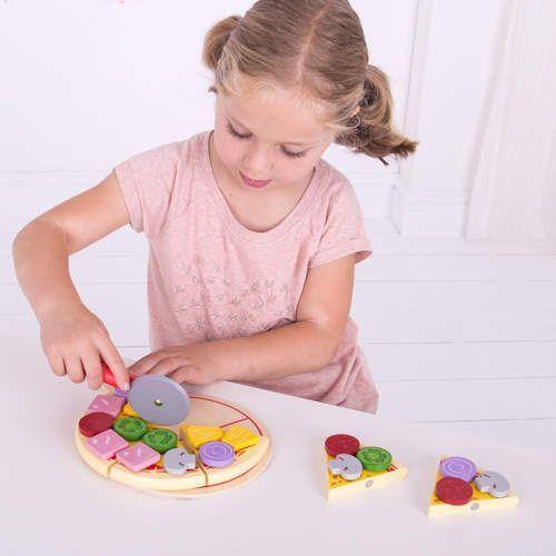 Bigjigs toys Drewniana pizza dla dzieci