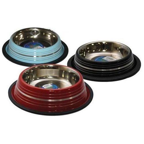 YARRO Miska metalowa na gumie malowana w paski - różne rozmiary (5901436126560)
