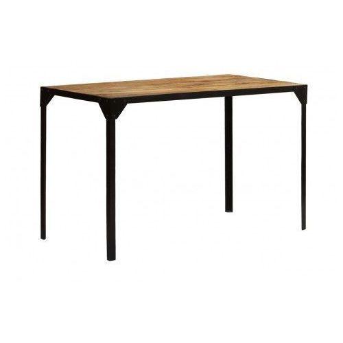 Stół ze stali i drewna Kartes – brązowy
