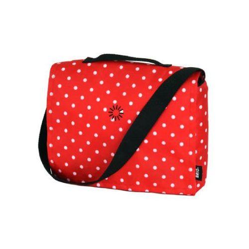 Brio  torba na akcesoria do przewijania dla lalek 24891594 czerwona w kropki (7312350000108)