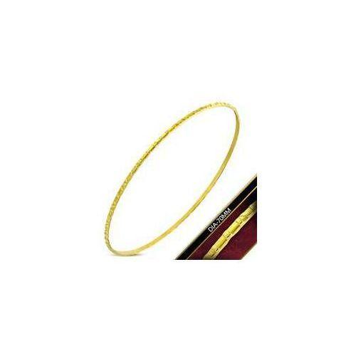 Okrągła Bransoleta / Bangle ze stali nierdzewnej w kolorze złotym z grawerem, stal 316L, DBA235