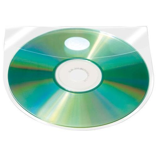 Kieszeń samoprzylepna Q-CONNECT na 2-4 płyty CD/DVD 127x127mm, 10 sztuk, KF27032