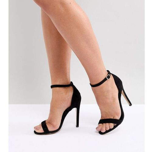wide fit barely there heeled sandals - black, Truffle collection