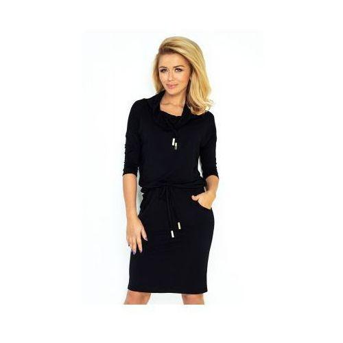 44-10 sukienka sportowa z golfem - czarny marki Numoco