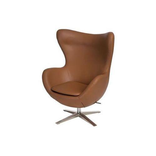 Fotel Jajo szeroki skóra ekologiczna 523 brązowy jasny (5902385722339)