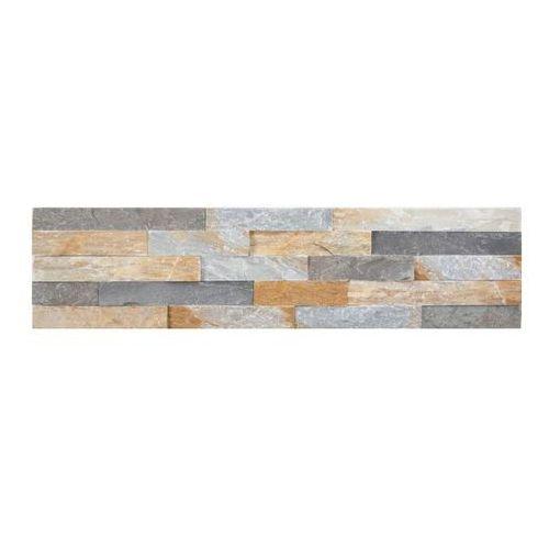 Kamień naturalny Slate 10 x 35 cm grey mix yellow 0,35 m2 (5902610370366)