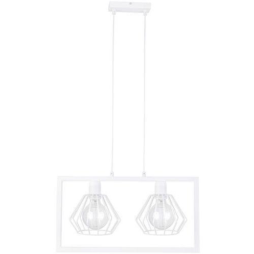 LAMPA wisząca SAGA 31617 Sigma metalowa OPRAWA ramka prostokątna ZWIS druciana klatka biała, 31617
