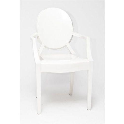 Krzesło Royal inspirowane Louis Ghost - biały (5902385702546)