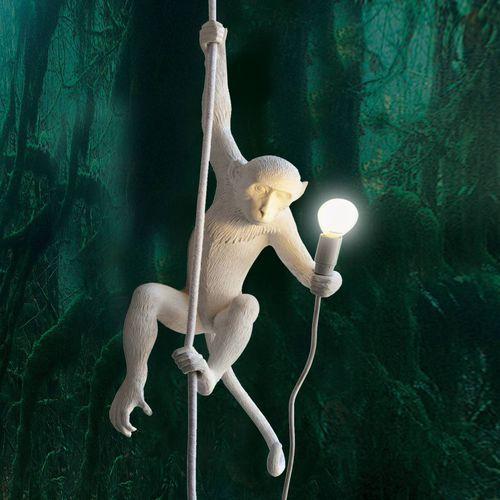 MONKEY - Lampa wisząca zewnętrzna Małpa Biały Wys.80cm