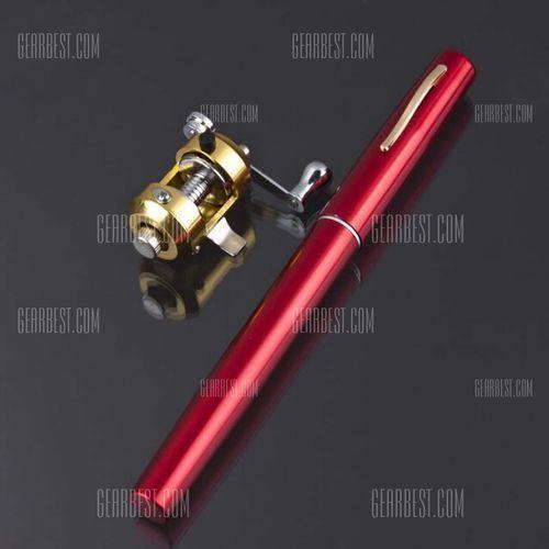 Portable fishing rod fountain pen type rod pocket-size rod + metal fishing wheel od producenta Gearbest