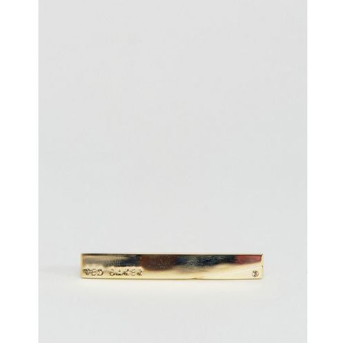 gold tie bar with corner crystal stone - gold marki Ted baker