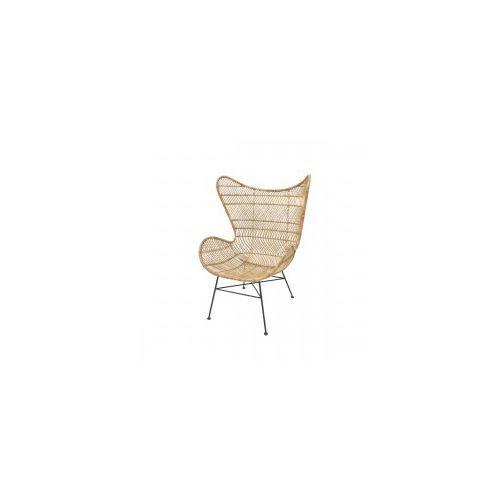 Rattanowy fotel EGG BOHEMIAN naturalny - HK Living, MZM4624