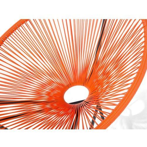 Beliani Meble rattanowe stół z 2 krzesłami pomarańczowe acapulco (7081451068071)