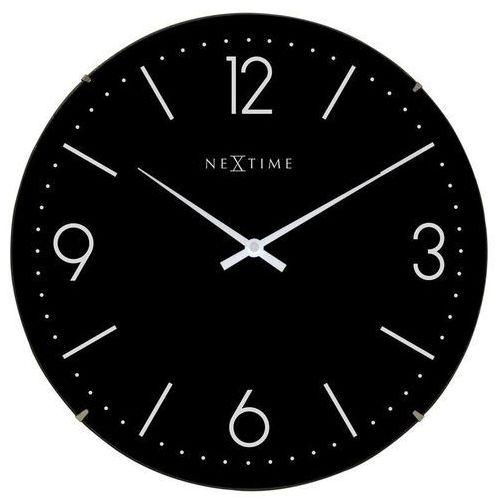 NeXtime - Zegar ścienny Basic Dome - czarny