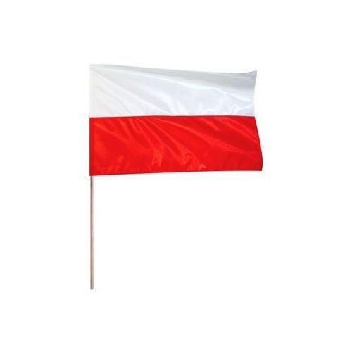 Flaga narodowa POLSKA 70 X 112 cm z drzewcem 120 cm
