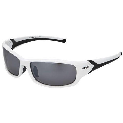 Uvex Okulary sportstyle 211 biały-czarny / kolor soczewek: srebrne / rodzaj szkieł: standardowe