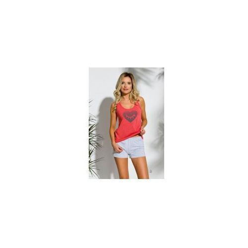 Piżama damska TARO 2152 Lea czerwona