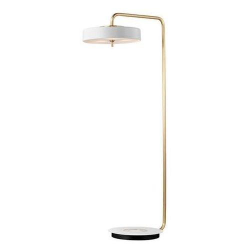 King home Lampa podłogowa arte floor biało-złota - aluminium, szkło