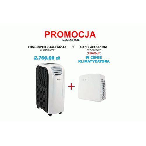 Klimatyzator przenośny Fral Super Cool FSC 14.1 - wydajność do ok. 35 - 40 m2 + oczyszczacz AIR SA, Fral Super Cool FSC 14.1