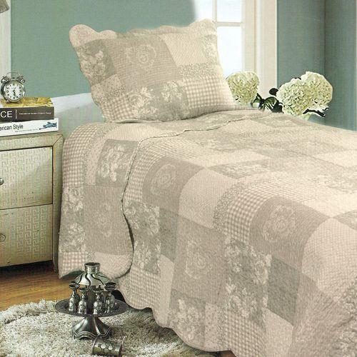 Narzuta na łóżko patchwork, 140 x 200 cm, 1x 50 x 70 cm, 140 x 200 cm marki 4home