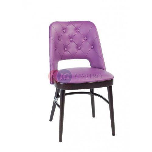 Krzesło bez podłokietnika bez guzików buk a-0045 marki Paged