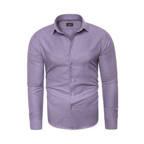 Koszula męska długi rękaw C.S.S 275 - fioletowa, w 5 rozmiarach