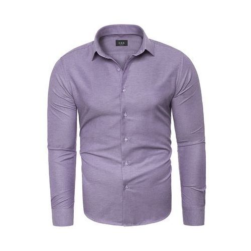 Koszula męska długi rękaw C.S.S 275 - fioletowa