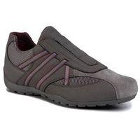Sneakersy GEOX - U Ravex D U023FD 0AU14 C9381 Anthracite/Bordeaux, w 7 rozmiarach