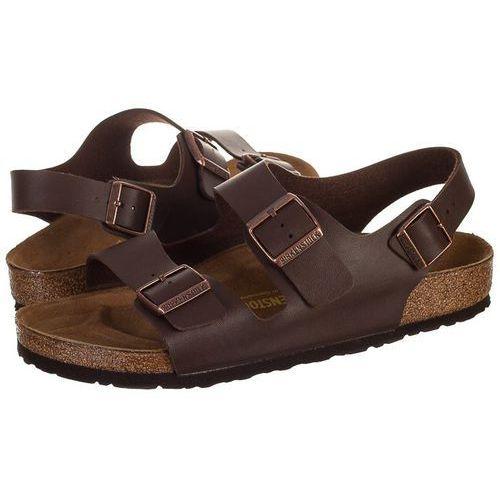 Sandały Birkenstock Milano 034701 Brązowe (BK9-a), kolor brązowy