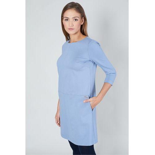 Błękitna sukienka - Click Fashion, kolor niebieski