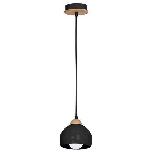 Luminex Lampa wisząca zwis żyrandol dama 1x60w e27 czarny/brzoza 0654