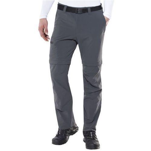 Maier Sports Tajo 2 Spodnie długie Mężczyźni szary 48-krótkie 2018 Spodnie z odpinanymi nogawkami, kolor szary