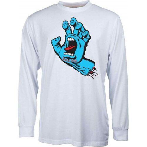 Koszulka - screaming hand white (white) rozmiar: l, Santa cruz