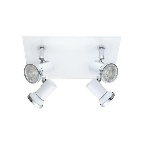 Eglo Plafon tamara 1 95995 lampa sufitowa spot 4x3,3w led biały chrom