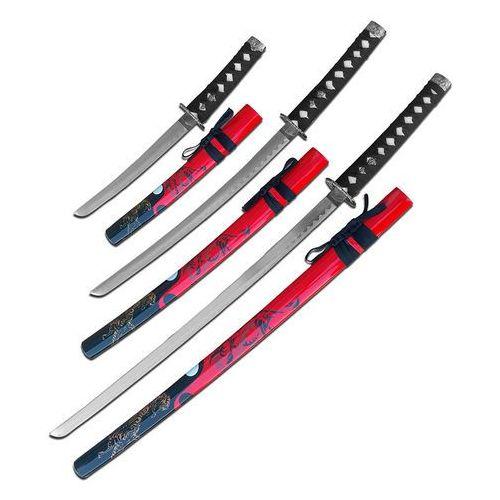Usa Zestaw mieczy samurajskich katana, wakizashi, tanto sw-86rd-4