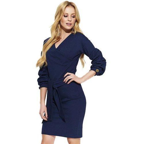 Makadamia sukienka damska 38 ciemnoniebieska, kolor niebieski