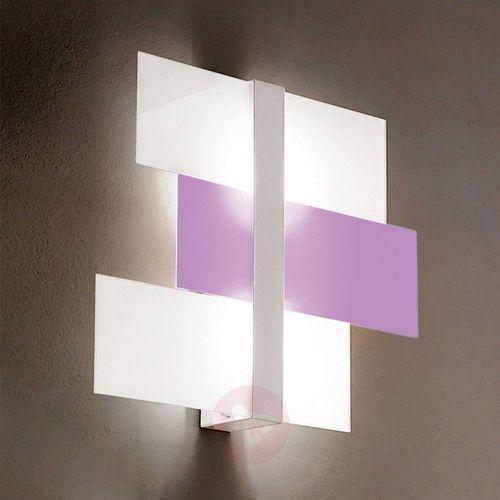 Linea light Abstrakcyjna lam. sufit. triad 62 cm biało-liliowa