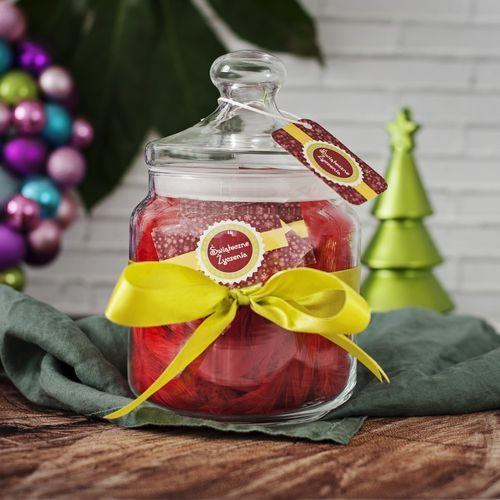 Mygiftdna Słój życzeń: świąteczne życzenia - słój z 31 personalizowanymi karteczkami