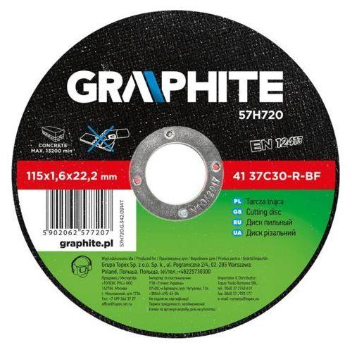 GRAPHITE 57H724 Tarcza tnąca do kamienia 180 x 3.2 x 22.2 mm, 42 37C30-R-BF (5902062577245)