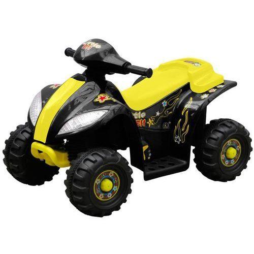 Vidaxl elektryczny quad dla dzieci czarno/żółty (8718475809975)
