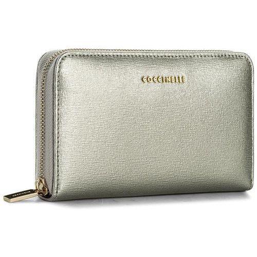 Duży portfel damski - aw1 metallic saffiano e2 aw1 11 32 01 silver 169 marki Coccinelle