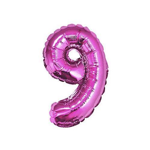 """Balon foliowy cyfra """"9"""" różowa - 35 cm, #A892^i"""