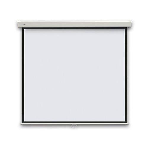 2x3 Ekran projekcyjny profi manualny, ścienny, 177x177cm, (1:1)