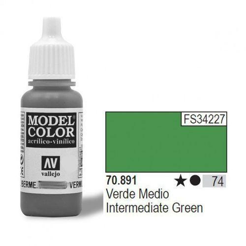 VALLEJO Farba Nr74 Inter med. Green 17mlMatt, 70891