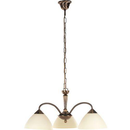 Lampa wisząca regina 3x40w e14 brąz/kremowy 8173 marki Rabalux